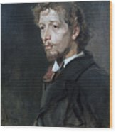 Portrait Of A Young Man, C1880. Artist Wood Print