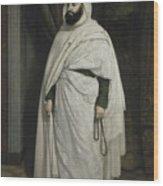 Portrait Of Abdelkader Ibn Muhieddine Wood Print