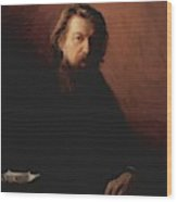 Portrait Of Alexei Antipowitsch Potechin Wood Print