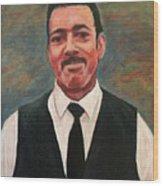 Portrait Of Artist Carl Butler Wood Print