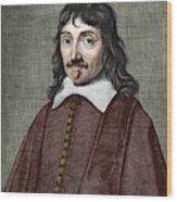 Portrait Of Descartes Wood Print