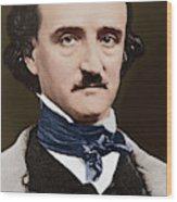 Portrait Of Edgar Allan Poe, Circa 1849 Wood Print
