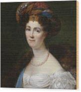 Portrait Of Josephine Victoire Meslier Duvey D  Wood Print