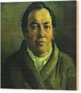 Portrait Of Nikolay O Ge Artist Father Wood Print