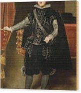 Portrait Of Philip Iv  Wood Print