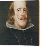 Portrait Of Philip Iv  King Of Spain  Wood Print