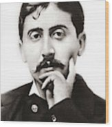Portrait Of The French Author Marcel Proust Wood Print