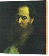 Portrait Of The Physiologist Moriz Schiff Wood Print