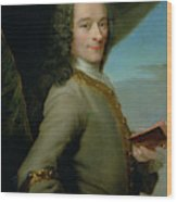 Portrait Of The Young Voltaire  Wood Print