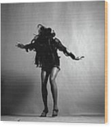 Portrait Of Tina Turner Wood Print