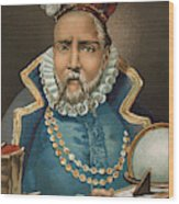 Portrait Of Tycho Brahe Wood Print