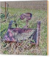Potatoe Planter Wood Print