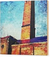 Power Plant Wood Print