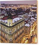 Prague Lights Wood Print