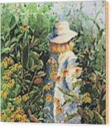 Prairie Girl Wood Print