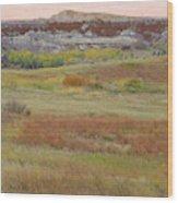 Prairie Reverie On The Western Edge Wood Print