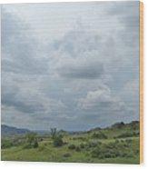 Prairie Sky In July Wood Print