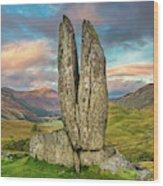 Praying Hands Sunset, Glen Lyon Wood Print