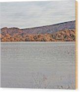 Prescott Arizona Watson Lake Hills Mountains Rocks Water Grasses Cloudy Sky 3142019 4920 Wood Print