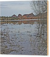 Prescott Arizona Watson Lake Sky Clouds Hills Rocks Trees Grasses Water 3142019 4920 Wood Print