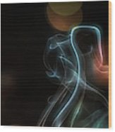Presence - Smoke Photography Wood Print