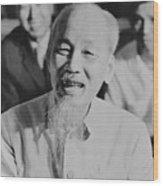 President Ho Chi Minh Of North Vietnam Wood Print