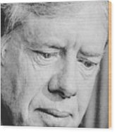 President Jimmy Carter Frowning Wood Print