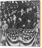 President Taft Throwing The First Pitch Wood Print