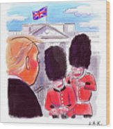 Presidential Visit To The Uk Wood Print