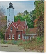 Presque Isle Lighthouse Wood Print