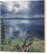 Priest Lake Light Wood Print