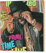 Prime Time Live Atlantas Neon Deion Sanders Sports Illustrated Cover Wood Print