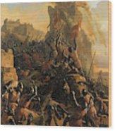 Prise De L'ile De Rhodes Par Les Chevaliers De L'ordre Des Hospitaliers De Saint-jean De Jerusalem Wood Print