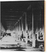 Prison Hospital Ward Wood Print
