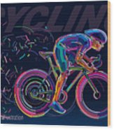 Professional Cyclist Involved In A Bike Wood Print
