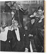 Prohibition Ends Drink Up Wood Print