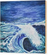Promethea Ocean Triptych 1 Wood Print