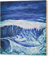 Promethea Ocean Triptych 2 Wood Print