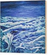 Promethea Ocean Triptych 3 Wood Print