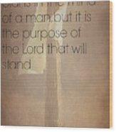 Proverbs 19 21 Wood Print