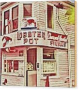 Provincetown Tradition Lobster Pot Wood Print