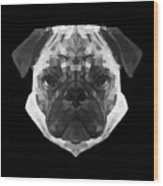 Pug's Face Wood Print