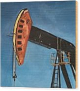 Pump Jack Wood Print