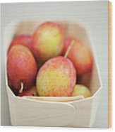 Punnet Of Victoria Plums Wood Print