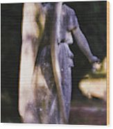 Purple Angel Wood Print