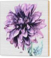 Purple Blend Petals Two Wood Print