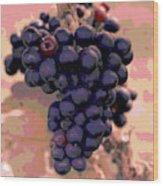 Purple Grape Bunches 18 Wood Print
