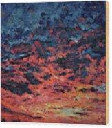 Purple Sun Wood Print