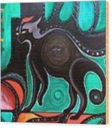 Pyewacket Noir Wood Print