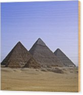 Pyramids In Desert Landscape, Close Up Wood Print